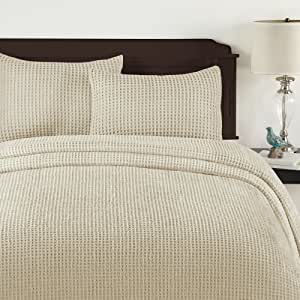 Lamont Home Honeycomb Bedspread, King, Sand
