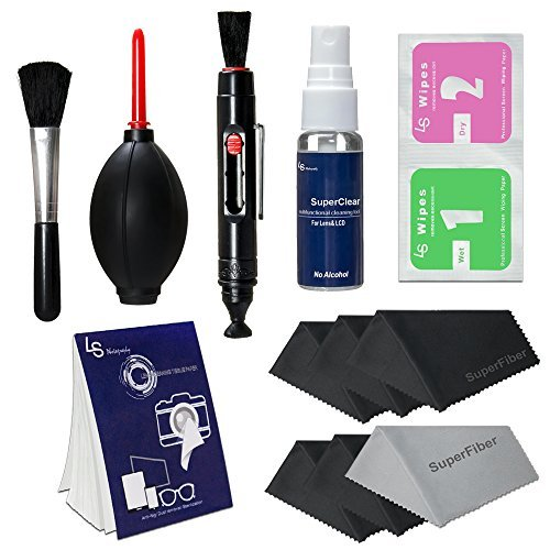 LS Photography Photo Camera Cleaning Brush Kit Cleaning Set for DSLR Cameras, Lens and Sensitive Electronics with (6 PCS.) 6