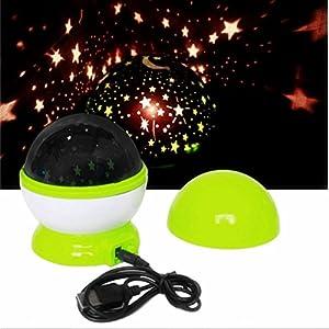 DAYAN Sueño Rotación automática Proyector de cielo de estrellas luminoso USB para Lampara de Noche dormitorio infantil de DAYAN