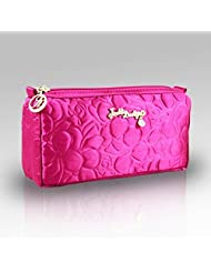 Royal Blossom Compact Cosmetic Bag Hot Pink