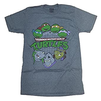 TMNT Teenage Mutant Ninja Turtles Gray Licensed Graphic T-Shirt