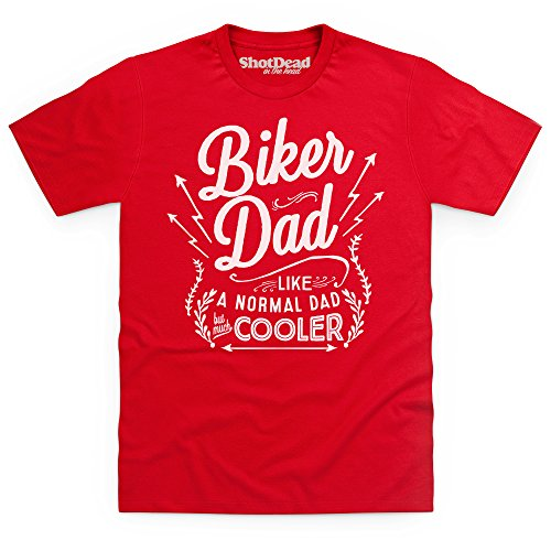Biker Dad T-shirt, Uomo, Rosso, XL
