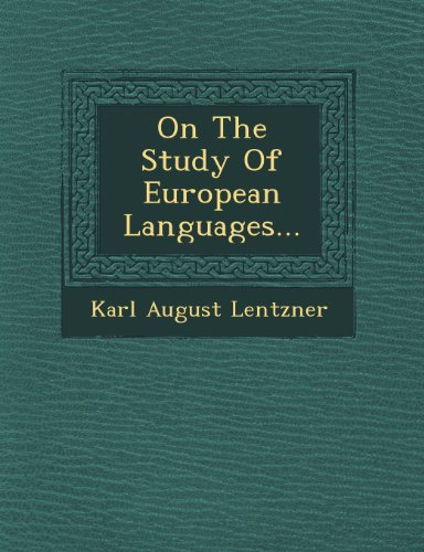On The Study Of European Languages...