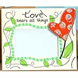 StealStreet SS-UG-SGA-020 Love Photo Picture Frame With Heart 4 By 6-Inch Cream