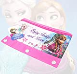 Disney Frozen 3 Ring Pencil Pouch Kids Girls Preschool Anna Elsa School Supplies