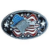 American Eagle USA Flag Belt Buckle Biker Motorcycle 3D star