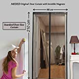 MEDED Magic Magnetic Door Mesh Curtain with Invisible Magnets & Ornamental Frill
