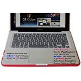 iPearl High Grade Silicone Keyboard Skin Cover for MacBook / Pro / Air in Retail Packaging - CLEAR