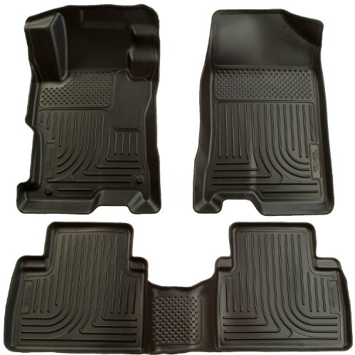 Husky Liners Custom Fit Front and Second Seat Floor Liner Set for Select Toyota/Pontiac Models (Black) (2012 Toyota Corolla Trunk Liner compare prices)