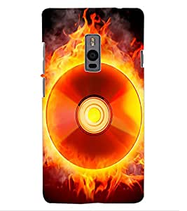 ColourCraft Flaming CD Design Back Case Cover for ONEPLUS TWO