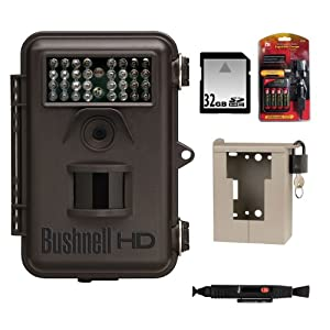 Bushnell Trophy Cam HD 8MP Game Camera Black Brown Case Night Vision FS2 Clam Pack +... by Bushnell