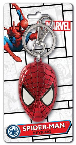 Marvel Spider-Man Colored Head Pewter Key Ring