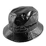 Jaxon Hats Vinyl Rain Bucket Hat Black 1-Sizeby Village Hats