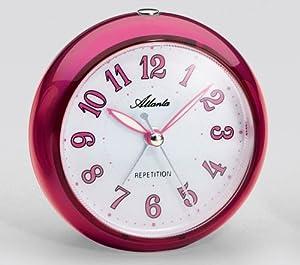 Atlanta 1725/8 reloj de repisa o sobre mesa - relojes de mesa (Analógico) Rojo marca Atlanta