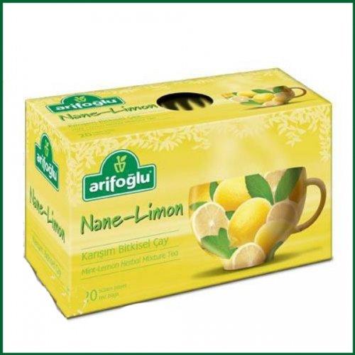 Mint Lemon Herbal Tea Arifoglu 20 Tea Bags