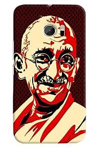 Omnam Gandhi Ji Printed Back Cover Case For HTC 10