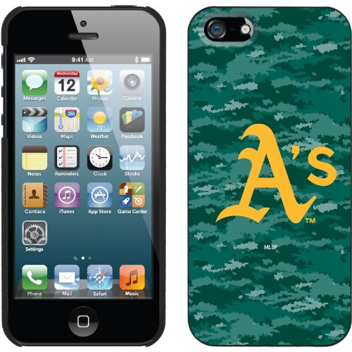Great Price Oakland Athletics - Digi Camo Color design on a Black iPhone 5s / 5 Thinshield Snap-On Case by Coveroo