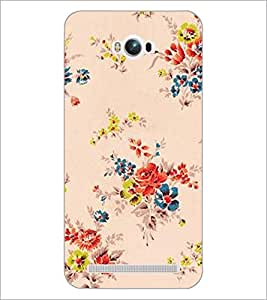PrintDhaba Floral Pattern D-2339 Back Case Cover for ASUS ZENFONE MAX ZC550KL (Multi-Coloured)