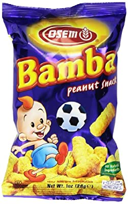 Osem Bamba Snack, Peanut, 1 Ounce (Pack of 24) by Osem