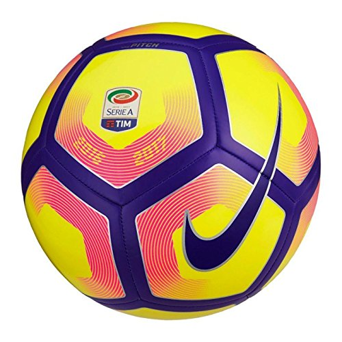 Nike Seriea Nk Ptch Pallone da Calcio, Bianco/Porpora/Nero, 5