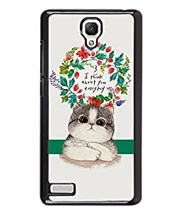 Fuson 2D Printed Cat Designer back case cover for Xiaomi Redmi Note 4G - D4537