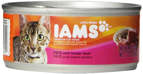 Iams Proactive Health Adult Pate With Tender Beef, 5.5-Ounce Cans (Pack Of 12)