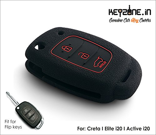 Keyzone New silicone key cover fit for: i20 Elite / i20 Active / Creta flip key