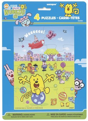 Cheap Unique Industries Wow! Wow! Wubbzy Party Puzzles 4 Pack (B0023C2Q14)
