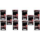 Kmc Hyper Matte Sleeves Black 10 Sets (10 Packs/Total 800 Sheets) ( Japan Import )