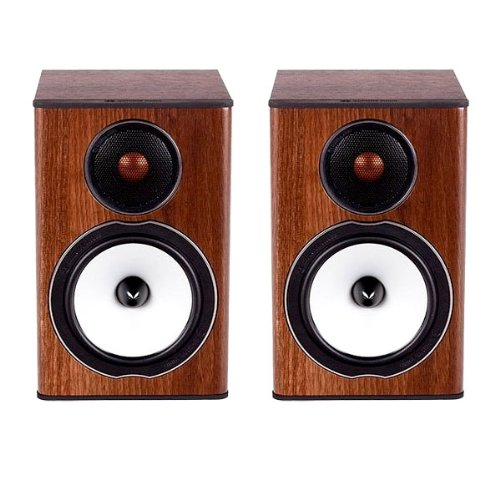 Monitor Audio - Bronze Bx-1 - 2-Way Bookshelf Speakers - Pair - Walnut