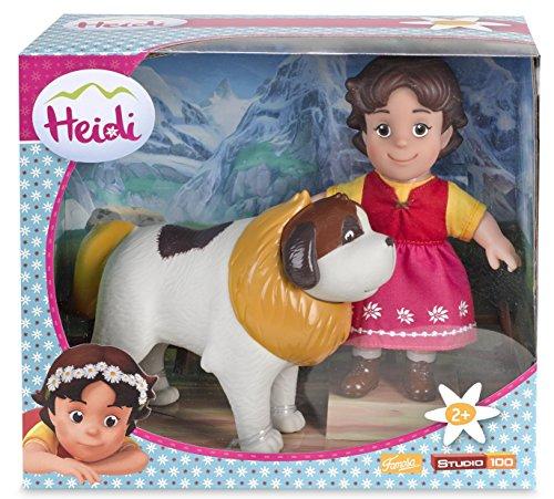 700012251 - Puppen-Set, 2-teilig - Heidi und Bernhardiner Josef