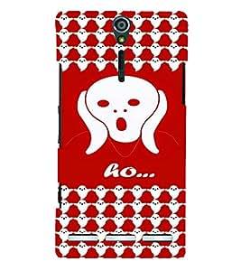 PrintVisa Cute Cartoon Ghost 3D Hard Polycarbonate Designer Back Case Cover for Sony Xperia S :: SL LT26I LT26ii
