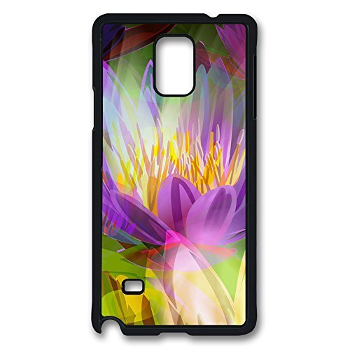 SUN VIGOR Samsung Galaxy Note 4 Case Flaming Flowers That Brightly Blaze Hard PC Black Cover Ultimate Protection Samsung Galaxy Note 4