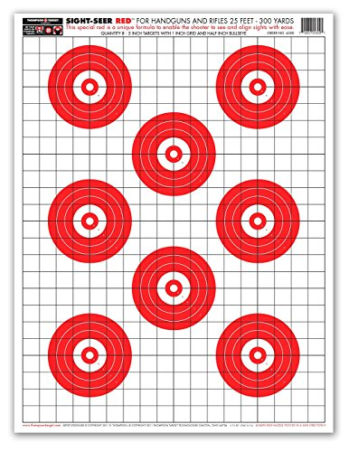 Sight Seer Red - Paper Gun Range Shooting Targets 19x25 Inch (25 Pack) (Pistol Target Practice compare prices)