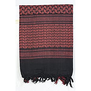 Voodoo Tactical VDT08-306501000 Black/Red Woven Coalition Desert Scarves