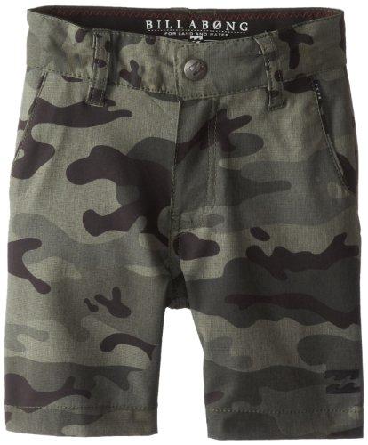 Billabong Little Boys' Kids Crossfire Px Shorts, Military Camo, 2T front-384658