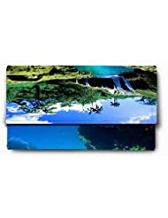 Sleep Nature's Split View Waterfall Printed Ladies Wallet