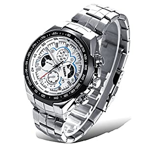 Efloral Men's Business Time Analog Display Swiss Quartz Automatic Watch