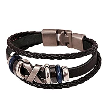 DZT1968(TM) 2015 Men Leather Jewelry Korea Punk Bracelet Stainless Steel Fittings by DZT1968