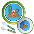 Gregg Gift VeggieTales for Gregg Gift Melamine God Made You Special Dinnerware Set, 4-Piece