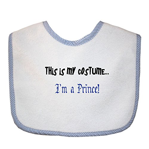 This Is My Costume... I'm A Prince Soft Terry Cotton Baby Bib
