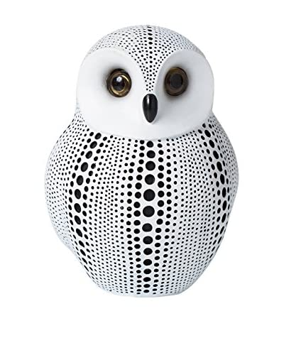 Torre & Tagus Debossed Dotted Owl, White