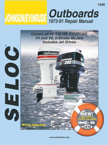 johnson evinrude outboards 1973 91 repair manual covers. Black Bedroom Furniture Sets. Home Design Ideas