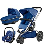 Quinny Buzz Xtra Blue Base with Carrycot and Pebble Car Seat