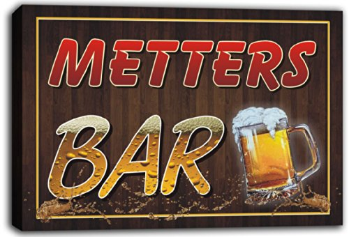scw3-068898-metters-name-home-bar-pub-beer-mugs-stretched-canvas-print-sign