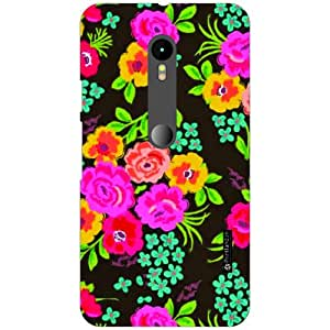 Printland Printed Hard Plastic Back Cover For Moto G(3rd generation) -Multicolor
