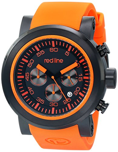 red line Men's RL-50050-BB-01-OAS Torque Sport Stainless Steel Watch with Orange Band (Red Line Orange Dial Watch compare prices)