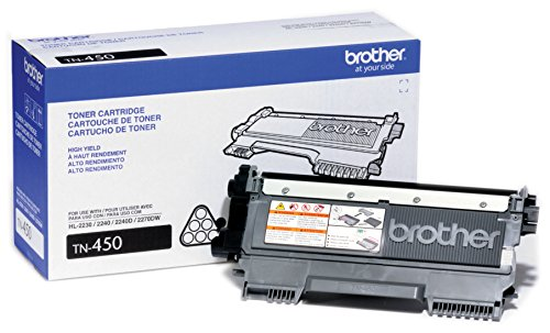 Brother TN450  High Yield Black Toner – Retail Packaging