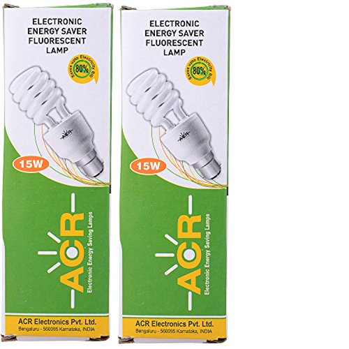 Triplet 15W CFL Bulb (White, Pack of 2)