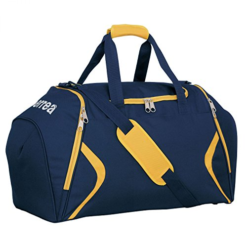 Luther scomparto borsa sportiva borsa da allenamento grande · Universal senza fondo, marineblau - gelb